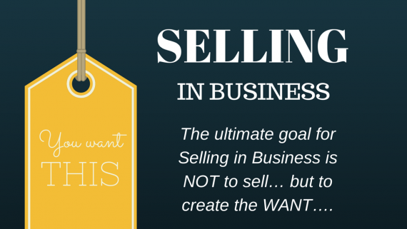 Selling In Business Graphic